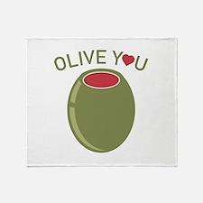 Olive You Stadium Blanket