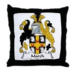 March Family Crest Throw Pillow