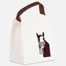 Cartoon Horse Laughing Funny Equestrian Art Canvas