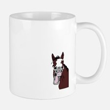 Cartoon Horse Laughing Funny Equestrian Art Mugs
