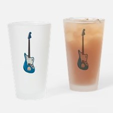 Electric Guitar Blue Drinking Glass