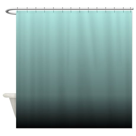 teal seafoam ombre shower curtain