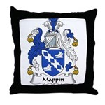 Mappin Family Crest Throw Pillow