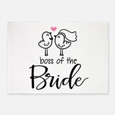 Boss of the bride 5'x7'Area Rug
