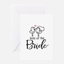 Boss of the bride Greeting Card