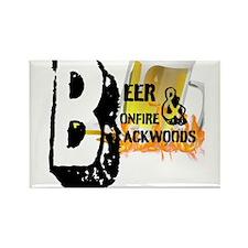 Beer,Bonfire, Backwoods Magnets
