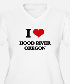 I love Hood River Oregon Plus Size T-Shirt