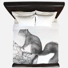 Red Squirrel King Duvet