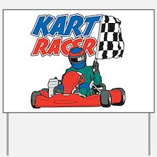 Kart Racer Yard Sign