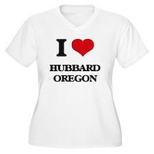 I love Hubbard Oregon Plus Size T-Shirt
