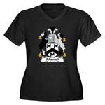 Mansel Family Crest Women's Plus Size V-Neck Dark