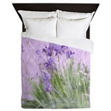 Purple iris Queen Duvet Covers