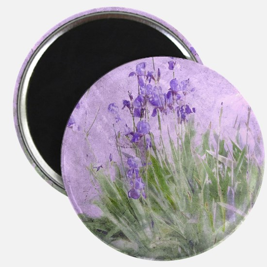 Purple Irises Magnet