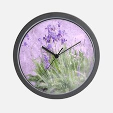 Purple Irises Wall Clock