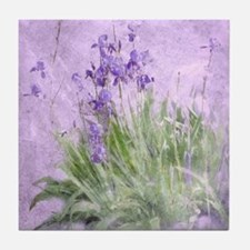 Purple Irises Tile Coaster