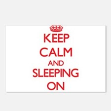 Keep Calm and Sleeping ON Postcards (Package of 8)