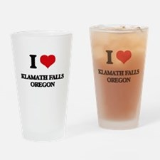 I love Klamath Falls Oregon Drinking Glass