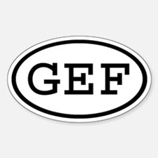 GEF Oval Oval Decal