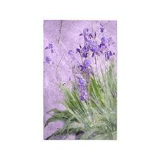 Purple Irises Area Rug