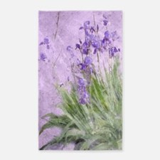 Purple Irises Area Rug