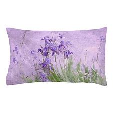Purple Irises Pillow Case