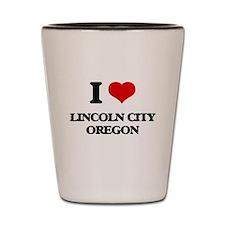 I love Lincoln City Oregon Shot Glass