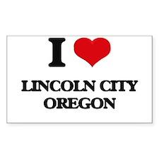 I love Lincoln City Oregon Decal