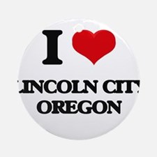 I love Lincoln City Oregon Ornament (Round)