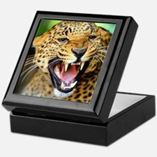 Growling Leopard Keepsake Box