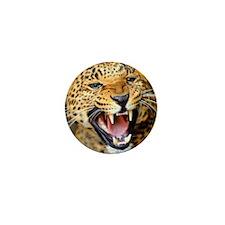 Growling Leopard Mini Button