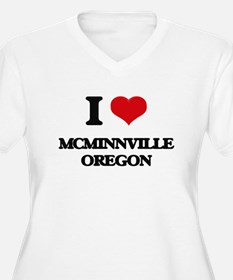 I love McMinnville Oregon Plus Size T-Shirt