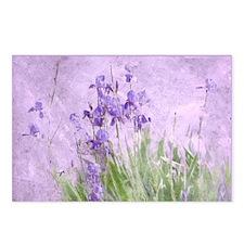 Purple Irises Postcards (Package of 8)