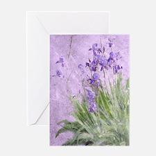 Purple Irises Greeting Cards