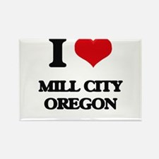 I love Mill City Oregon Magnets