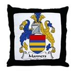 Manners Family Crest Throw Pillow