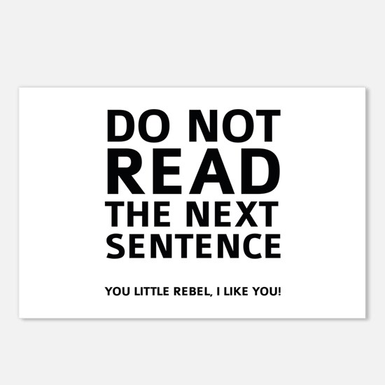 Do Not Read The Next Sentence Postcards (Package o