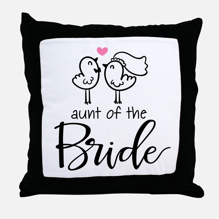 Aunt of the Bride Throw Pillow