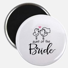 """Aunt of the Bride 2.25"""" Magnet (10 pack)"""