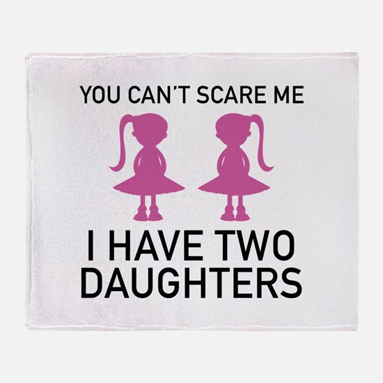 I Have Two Daughters Stadium Blanket