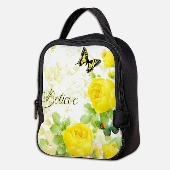 Believe - yellow roses Neoprene Lunch Bag