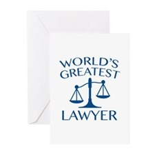 World's Greatest Lawyer Greeting Cards (Pk of 20)