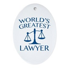 World's Greatest Lawyer Ornament (Oval)