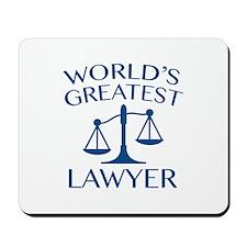 World's Greatest Lawyer Mousepad