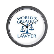World's Greatest Lawyer Wall Clock