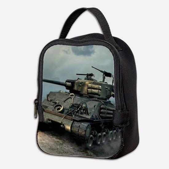 Tank Firing Neoprene Lunch Bag
