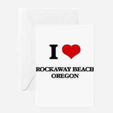 I love Rockaway Beach Oregon Greeting Cards