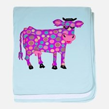 I Never Saw a Purple Cow baby blanket