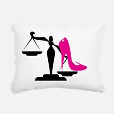 Cute Scales of justice Rectangular Canvas Pillow