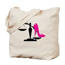 Funny Scales of justice Tote Bag