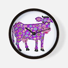 I Never Saw a Purple Cow Wall Clock